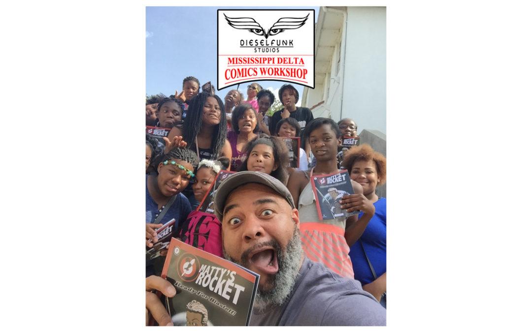 Day 2 at of The Dieselfunk Mississippi Delta Comics Workshop.