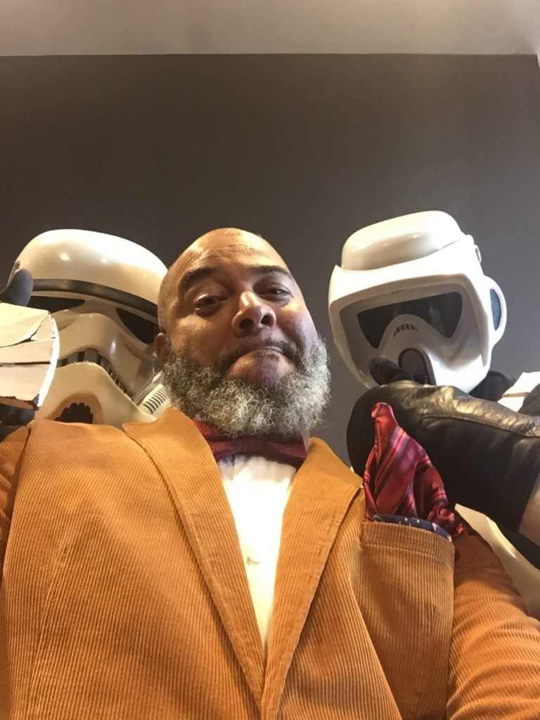 Tim Hanging with Storm Troopers
